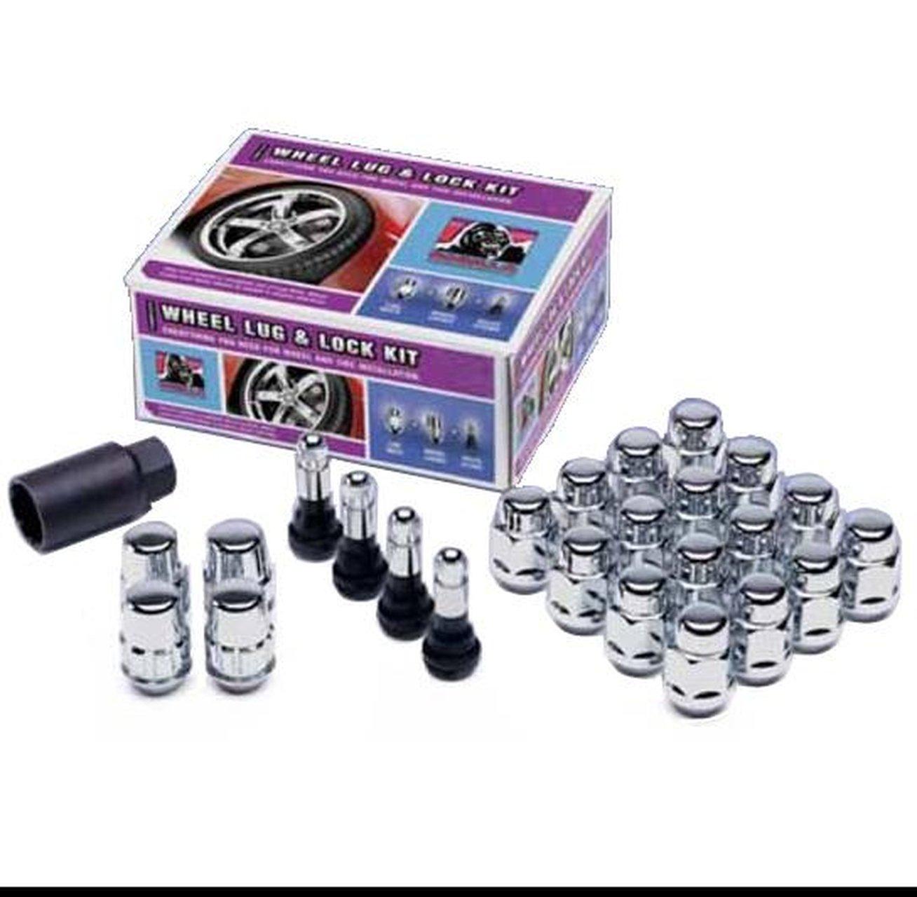 -Pack of 16 12mm X 1.50 Thread Size Gorilla Automotive 17100SD-16 Small Diameter Chrome 4 Lug Kit