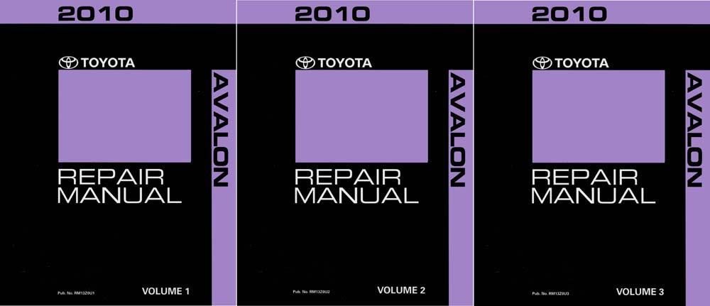 Oem Repair Maintenance Shop Manual Bound For Toyota Avalon Complete Set 2010