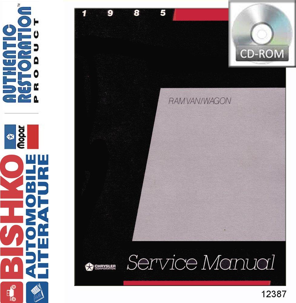 Bishko Oem Digital Repair Maintenance Shop Manual Cd For Dodge Truck Van 1985