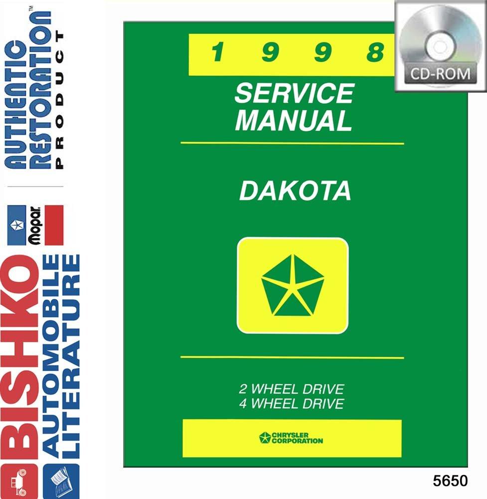 Bishko Oem Digital Repair Maintenance Shop Manual Cd For Dodge Truck Dakota 1998