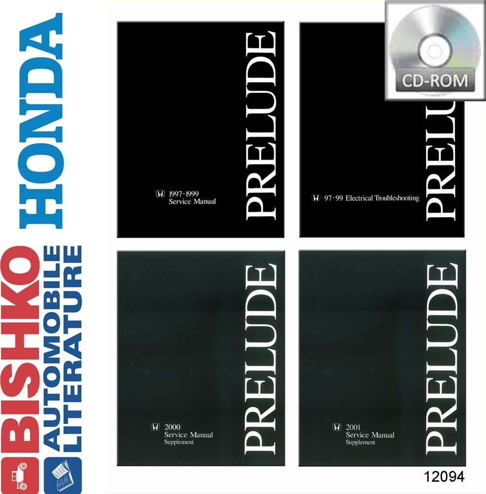 OEM Shop Manual CD Honda Prelude W/Etm/2000 & 2001