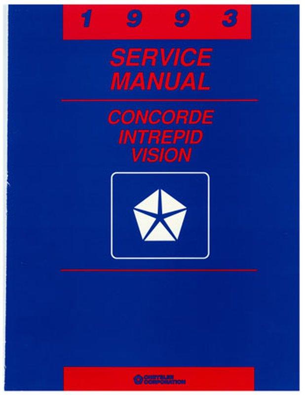 Oem Repair Shop Manual Bound For Eagle Vision 1993