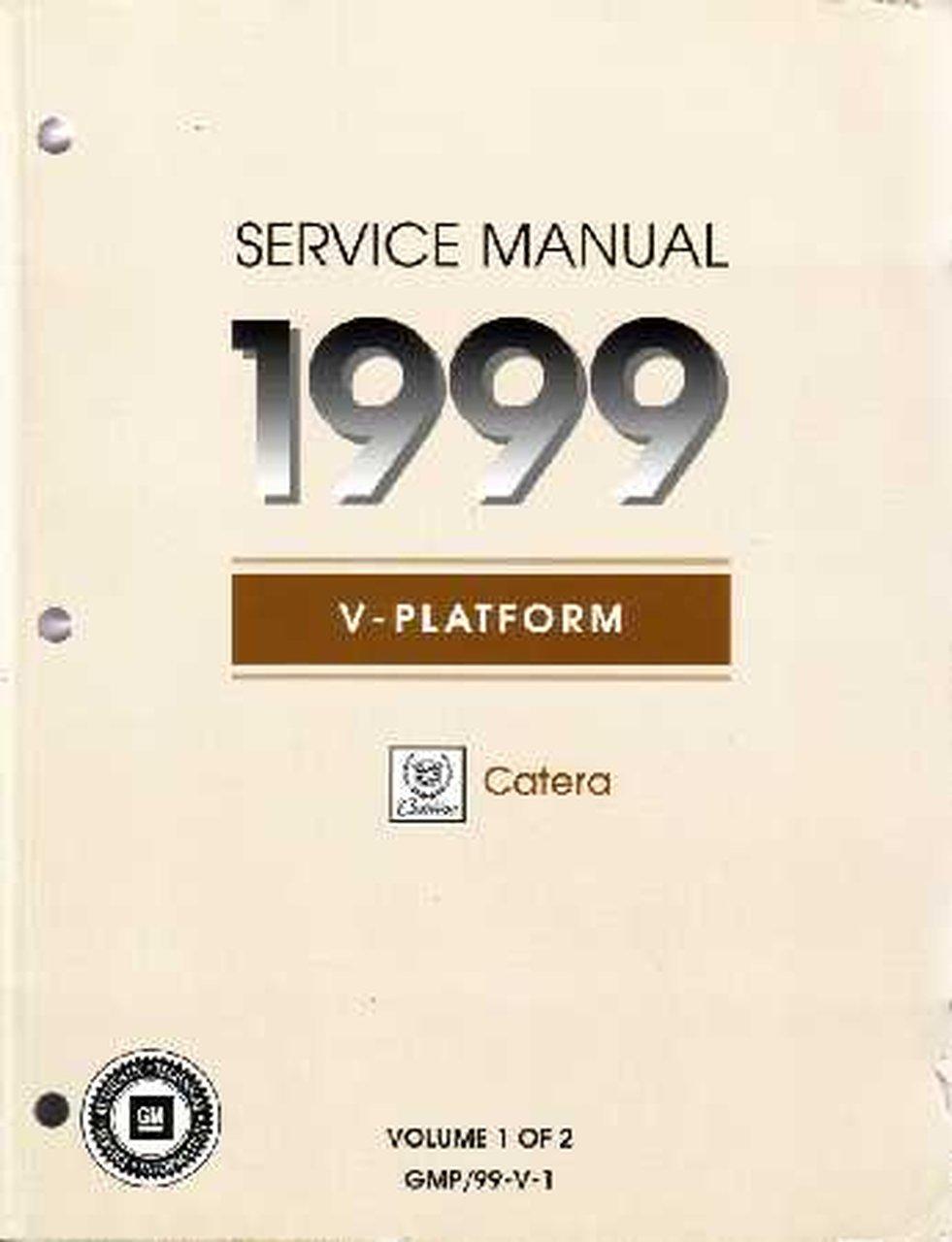 Bishko Oem Repair Maintenance Shop Manual Bound For Cadillac Catera 1999
