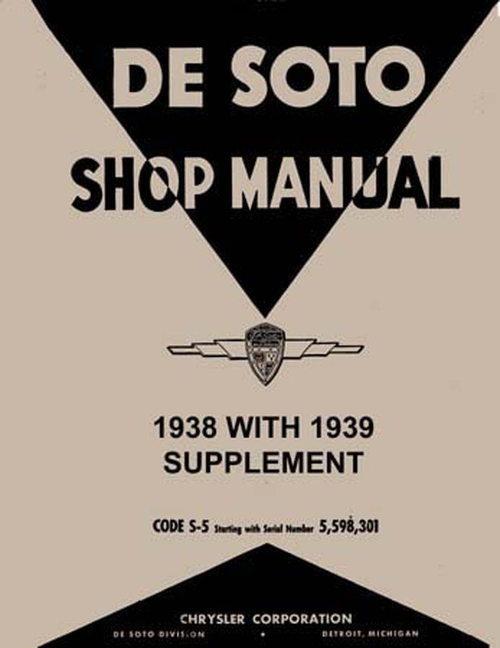 Oem Repair Maintenance Shop Manual Bound For Desoto All