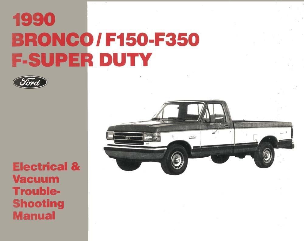 Evtm 1995 OEM Repair Maintenance Shop Manual Bound for Ford Truck Bronco