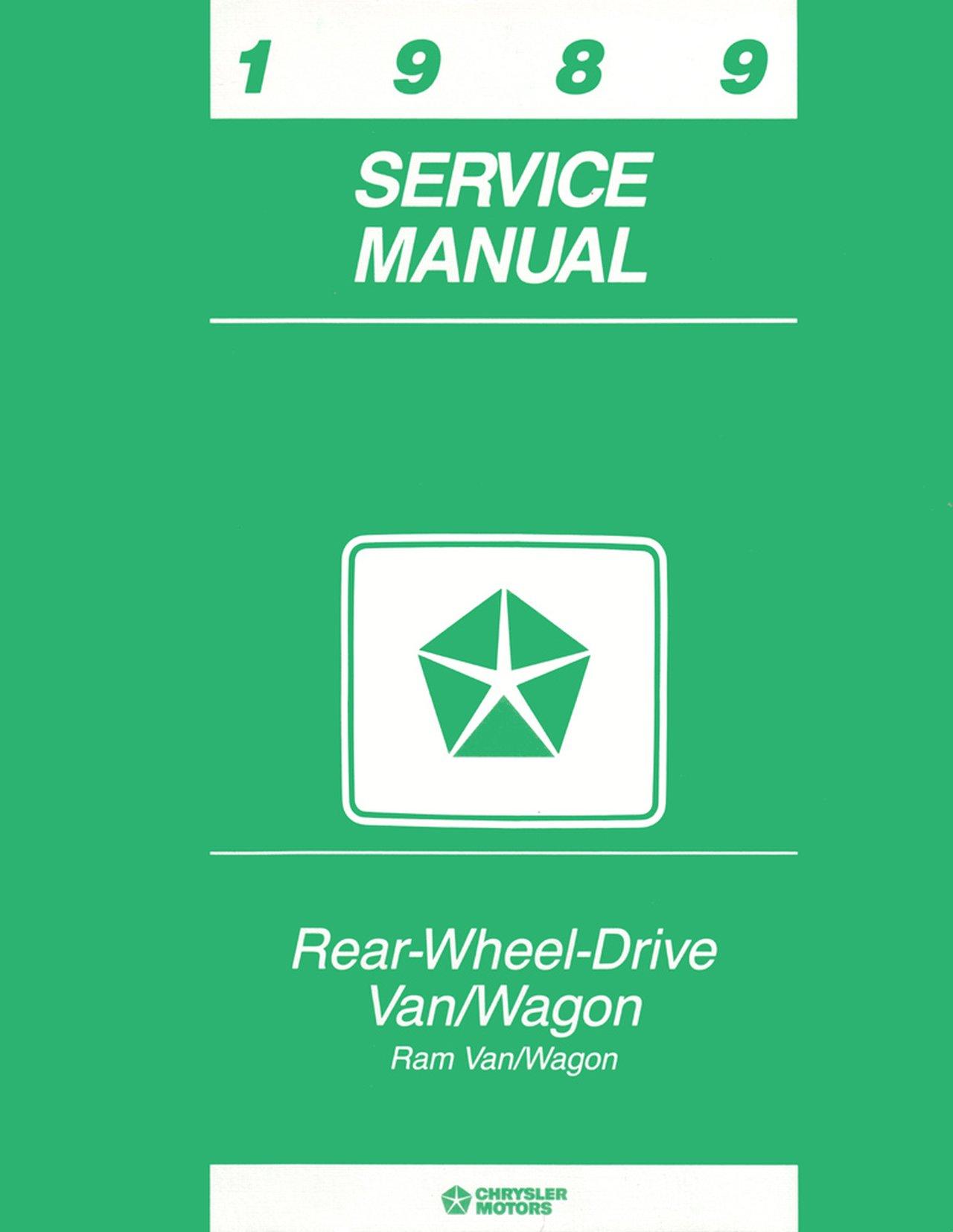 Oem Repair Maintenance Shop Manual Bound For Dodge Truck Full Size Van 1989