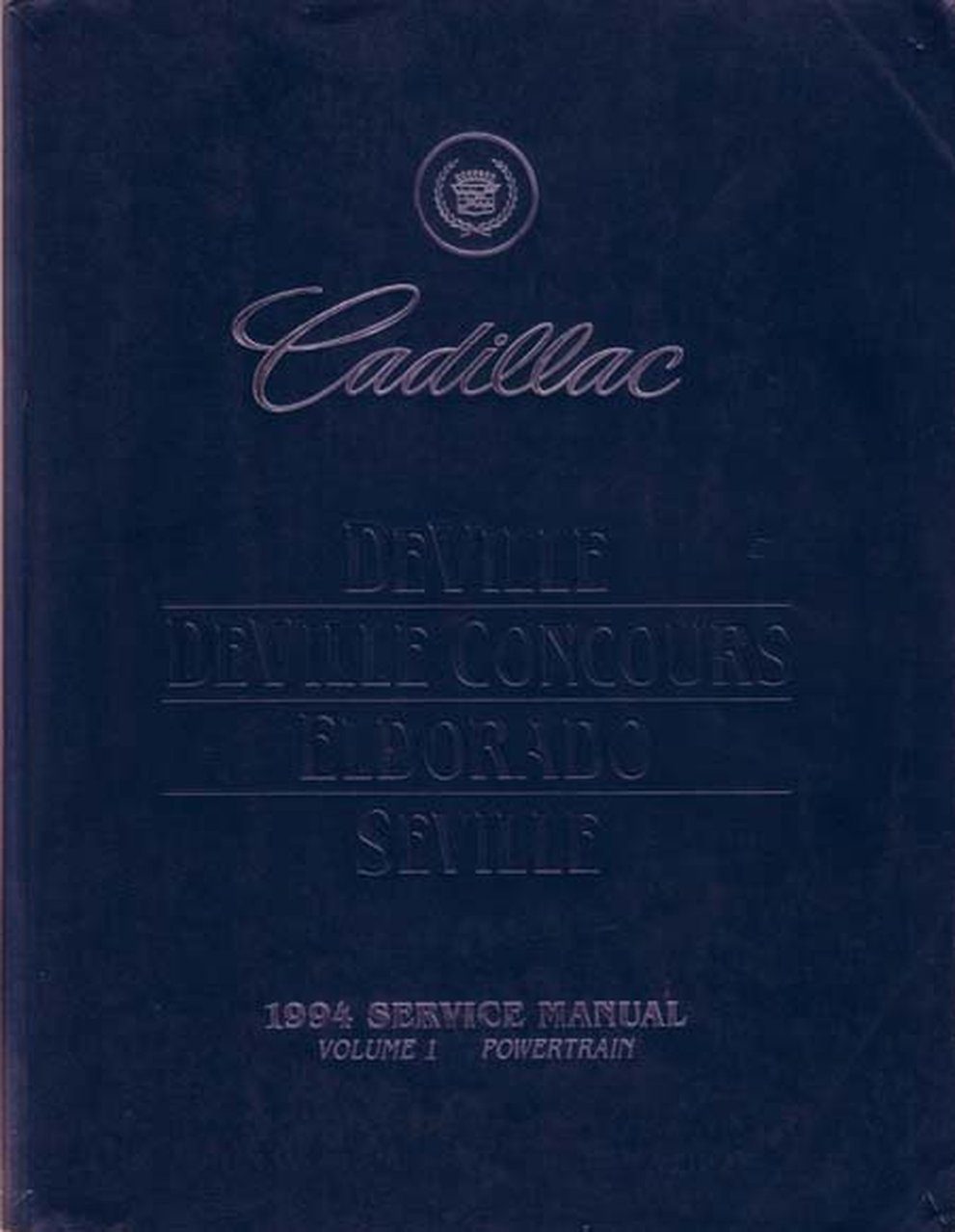 Oem Repair Maintenance Shop Manual Bound Cadillac Deville