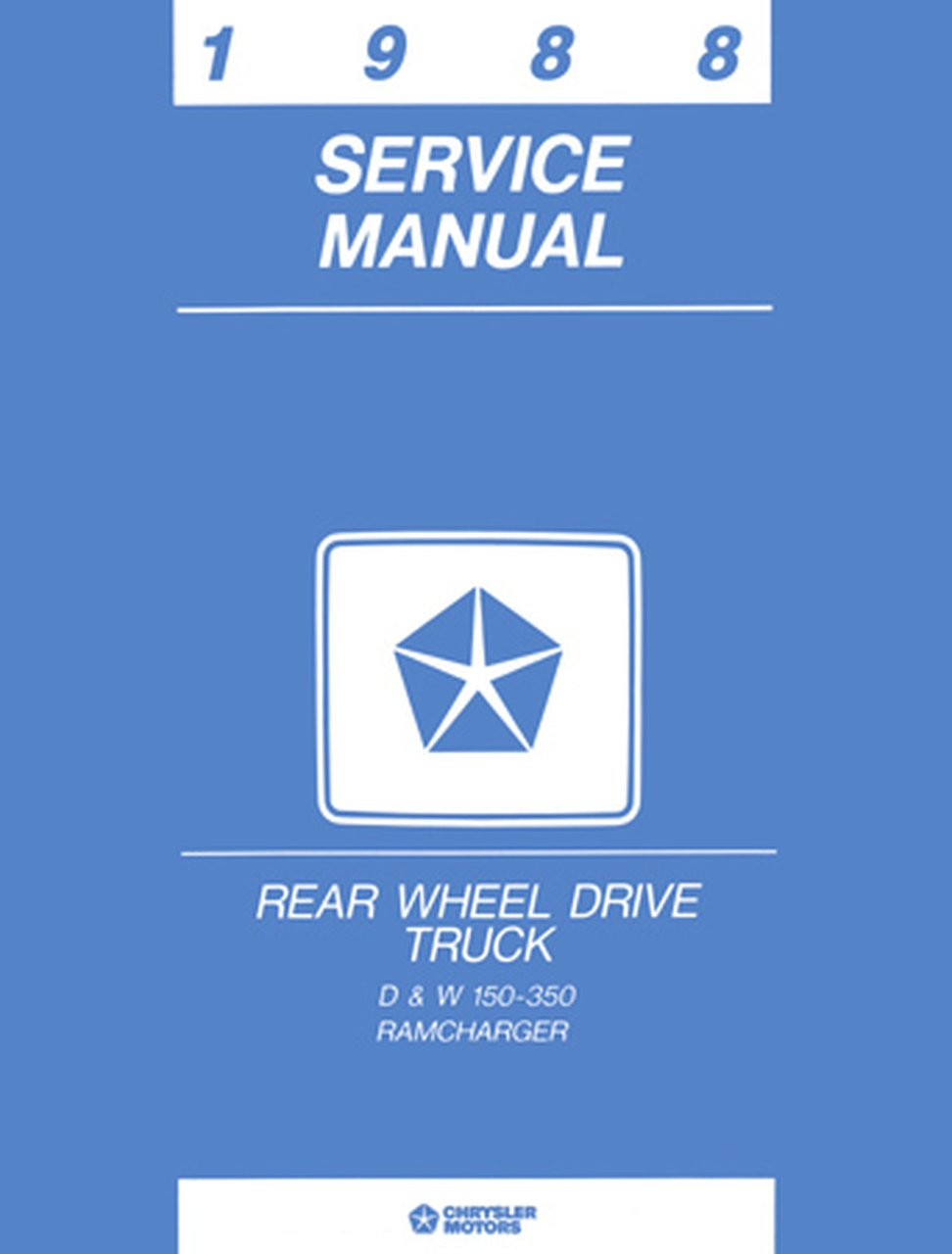 Oem Repair Maintenance Shop Manual Dodge Truck D  W 150