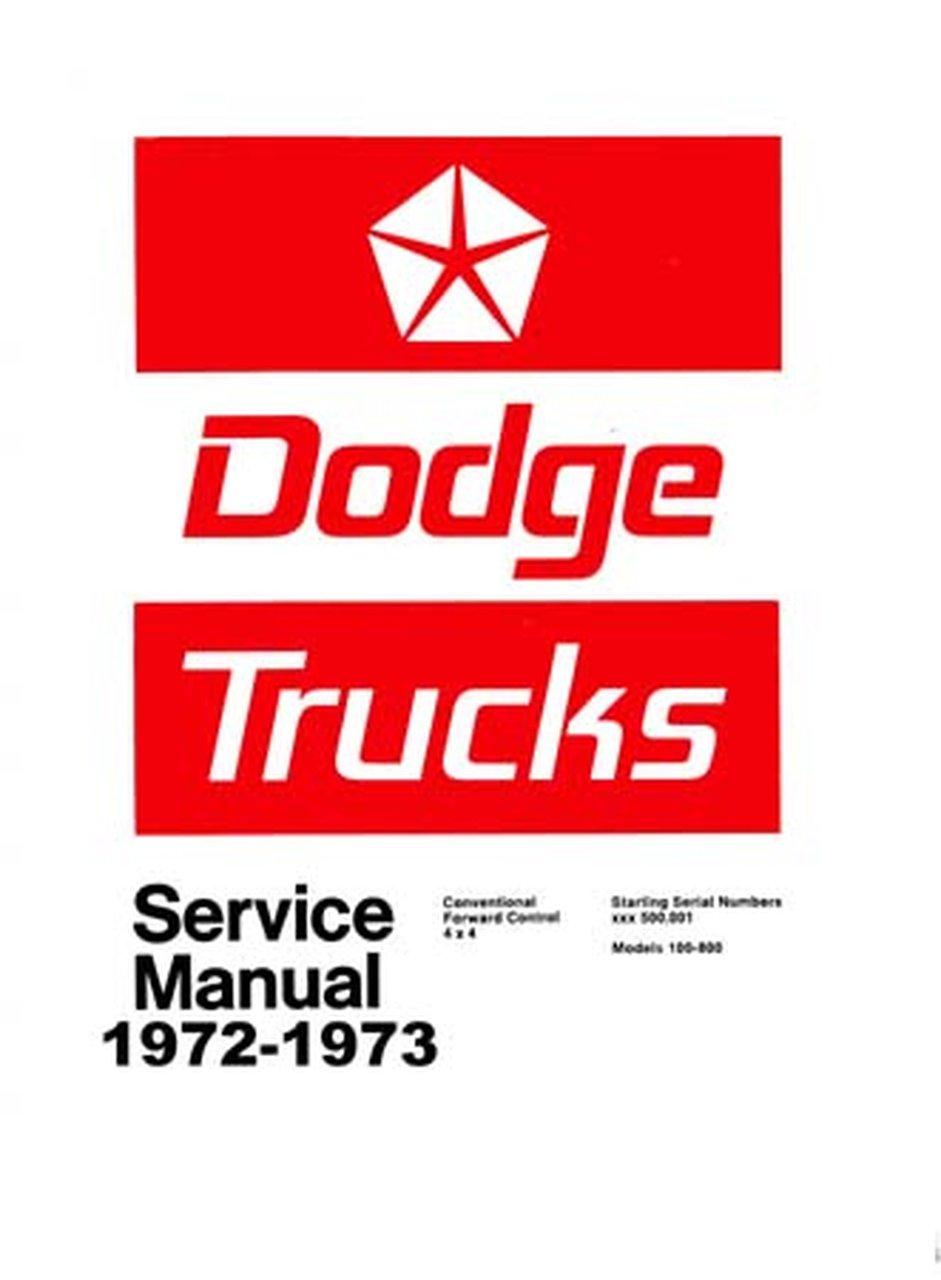 Oem Repair Maintenance Shop Manual Dodge Truck Light  U0026 Medium Duty 1972
