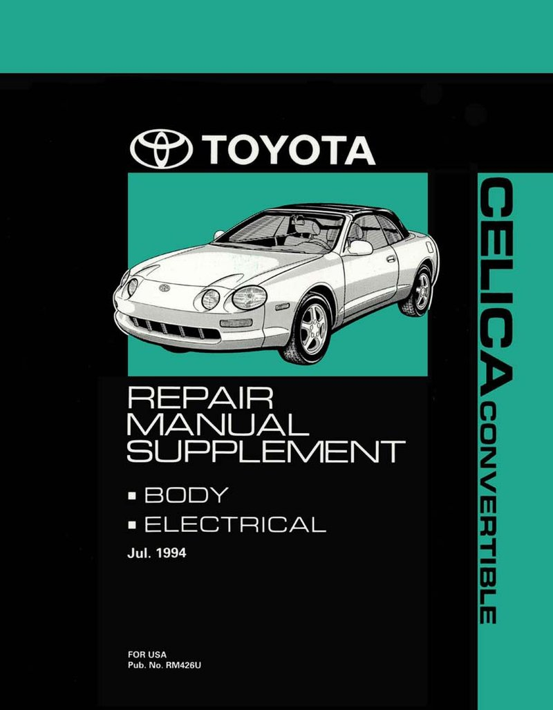 details about oem shop manual toyota celica convertible supplement 1995-1999