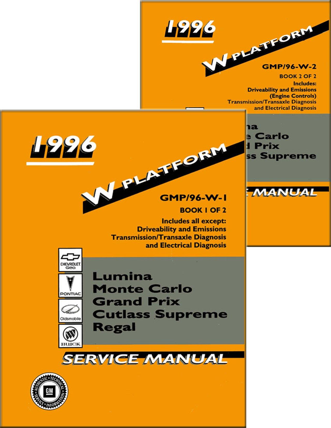 OEM Shop Manual Buick Regal/Lumina/Monte Carlo/Cutlass ...