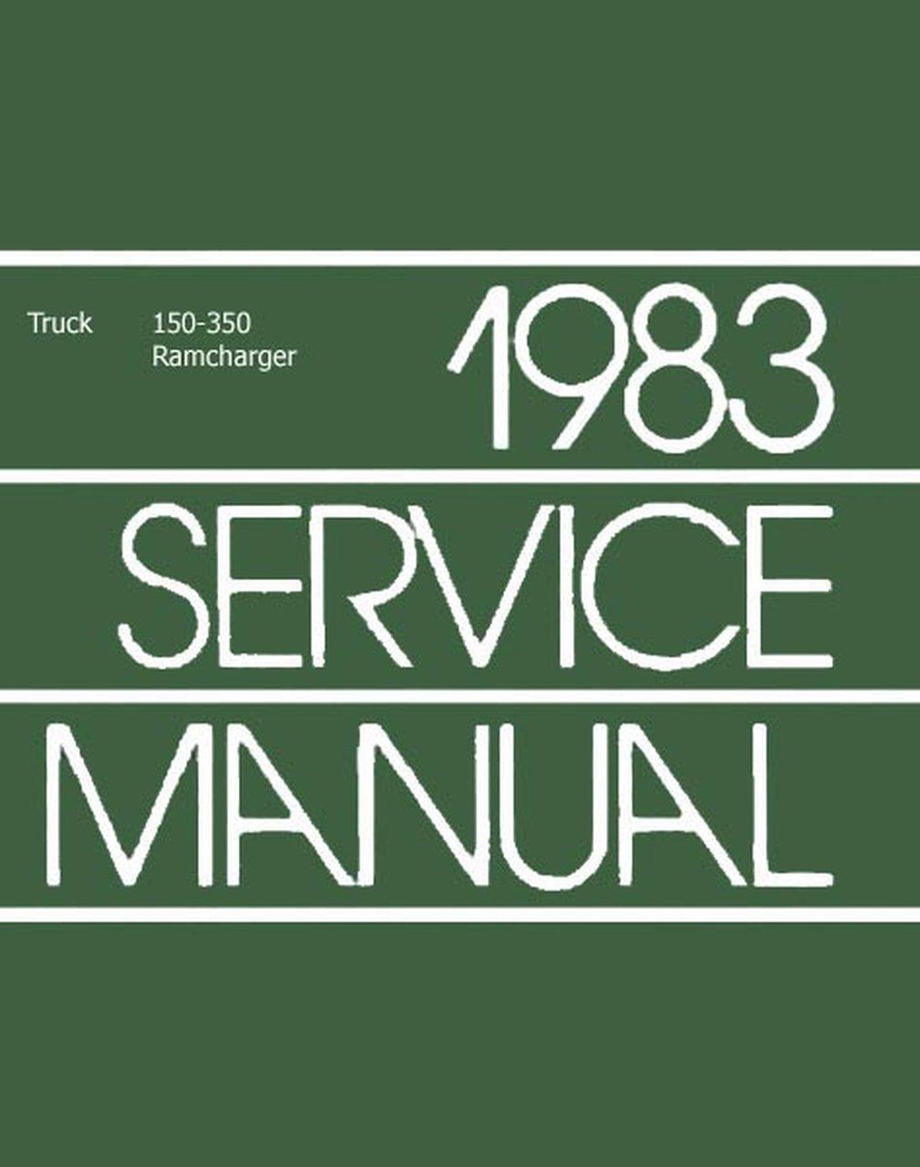 Oem Repair Maintenance Shop Manual Bound Dodge Truck 150