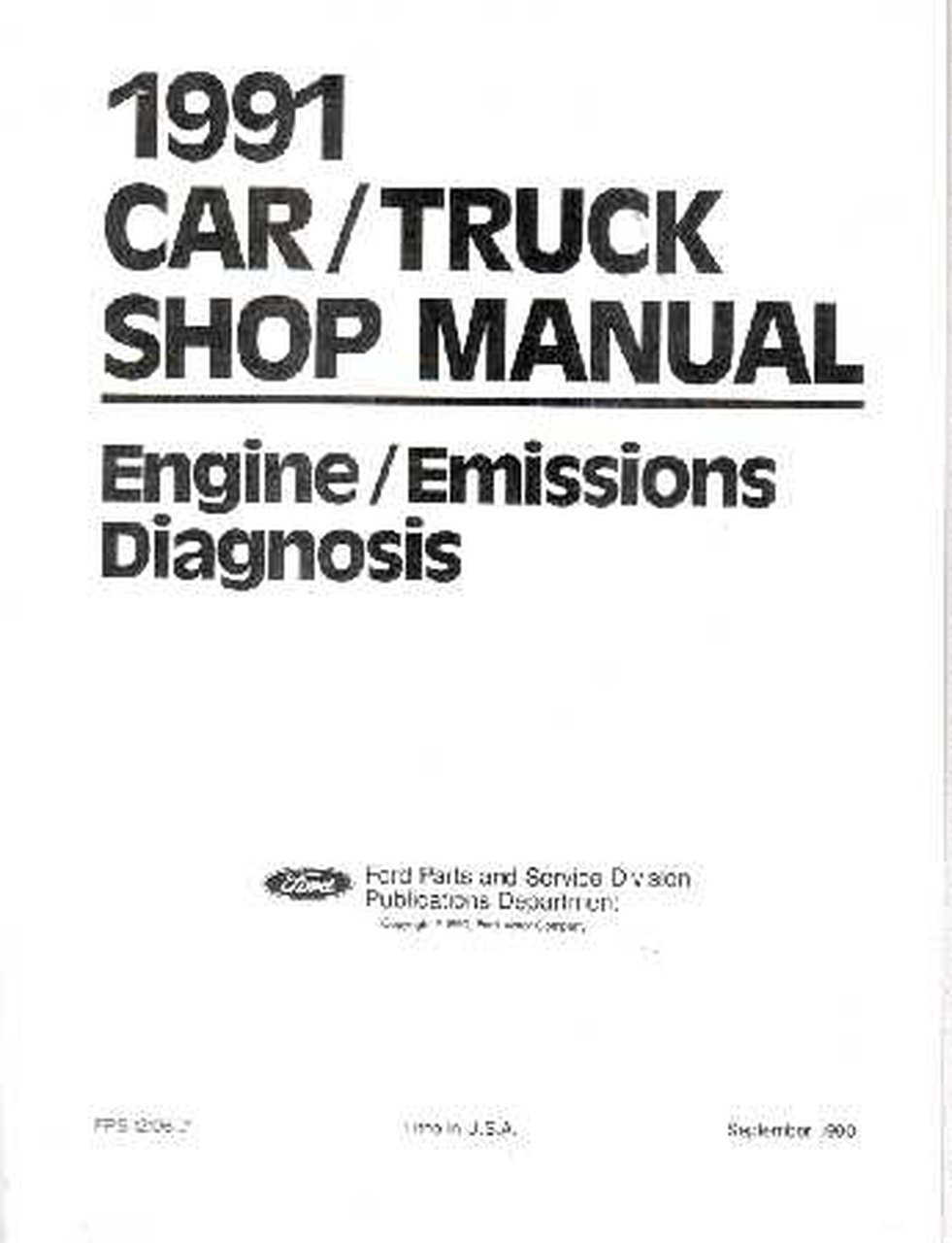 1991 ford 5 0 engine diagram oem repair maintenance shop manual ford vol h eng emissions   diag  oem repair maintenance shop manual ford
