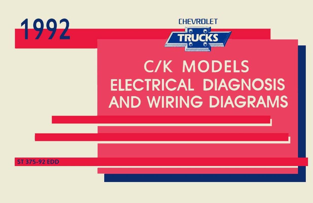 details about oem repair maintenance wiring schematics loose leaf chevy truck c k models 1992 1992 Chevy Truck Speaker