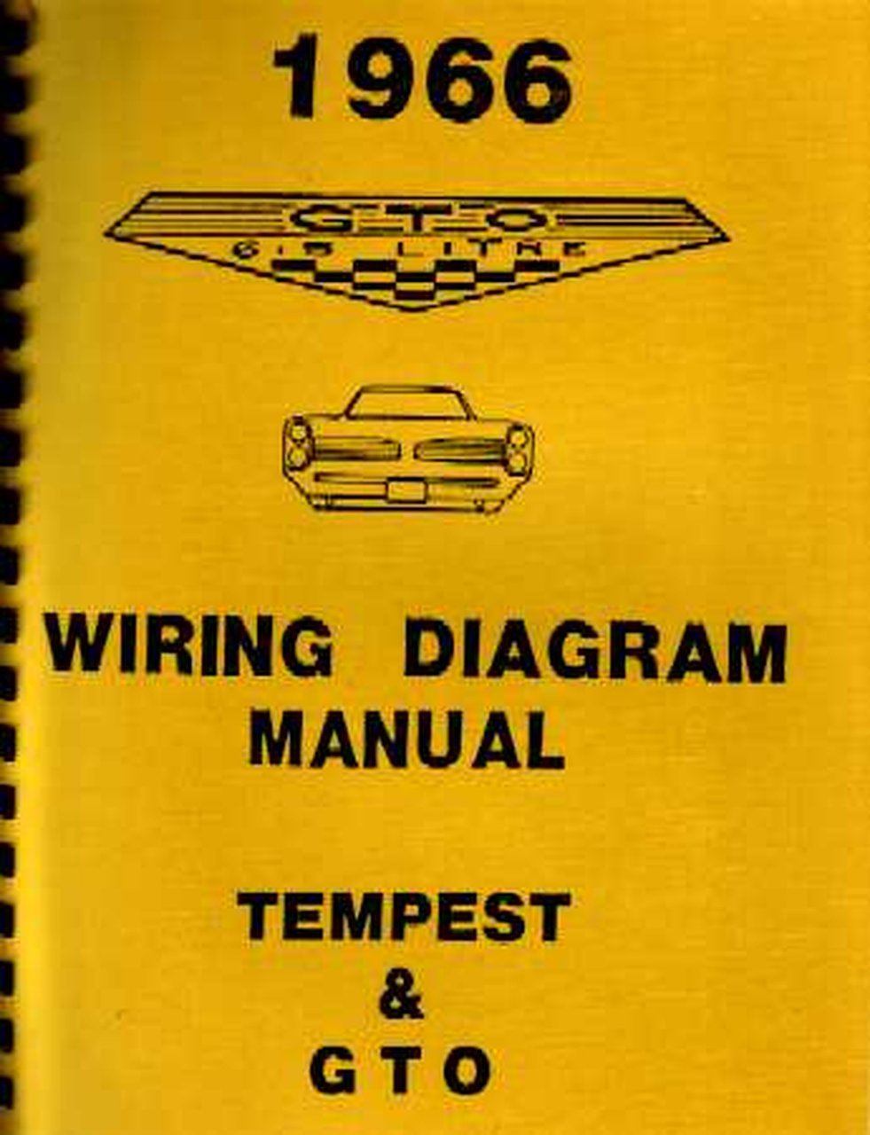 Oem Repair Maintenance Wiring Schematics Bound Pontiac Gto  Lemans  Tempest 1966