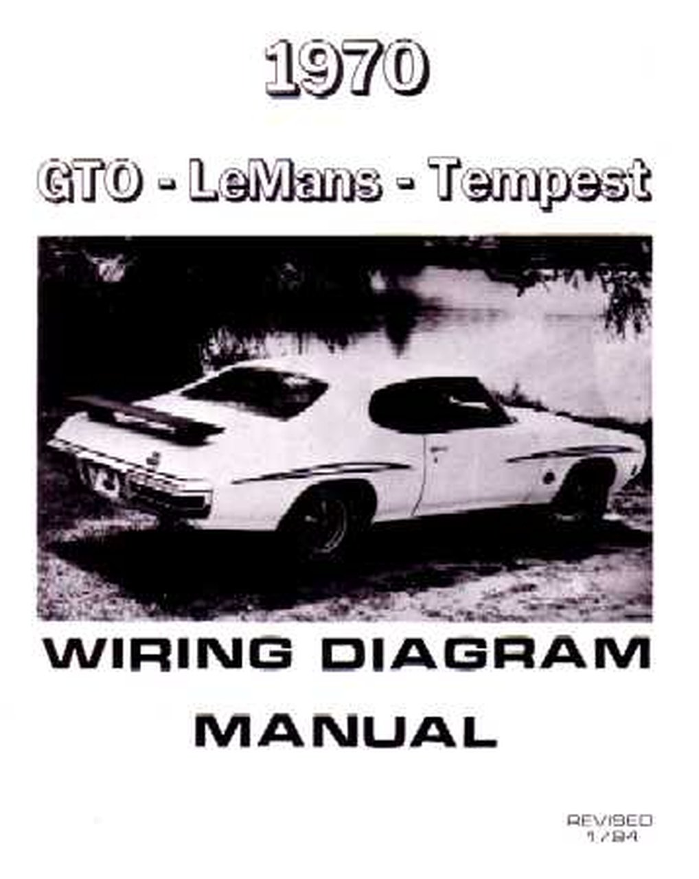 Oem Repair Maintenance Wiring Schematics Bound Pontiac Gto  Lemans  Tempest 1970