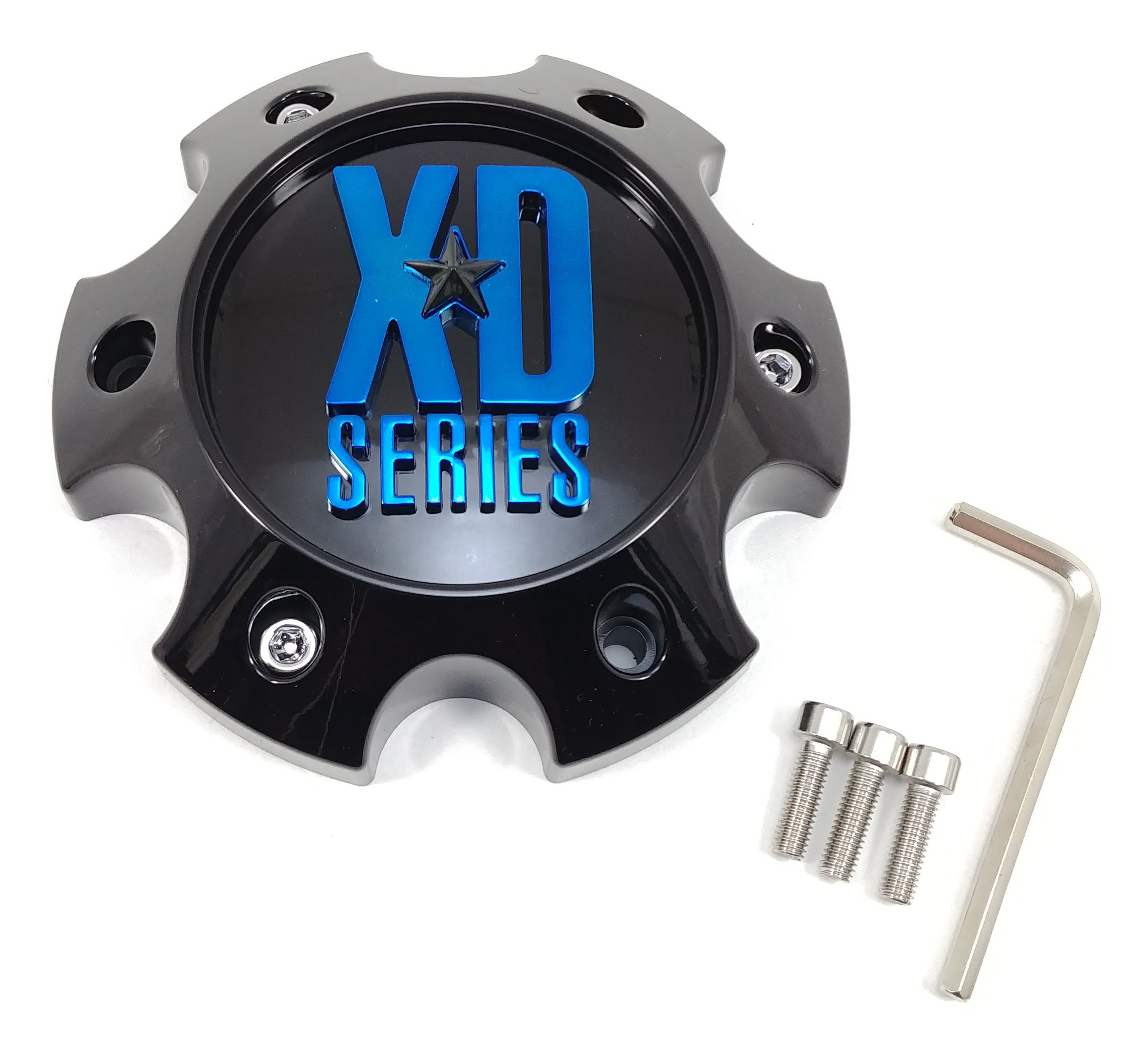 4x KMC XDS Gloss Black Wheel Center Caps 6 Lug 6X135 XD829 Hoss 2 XD831 Chopstix