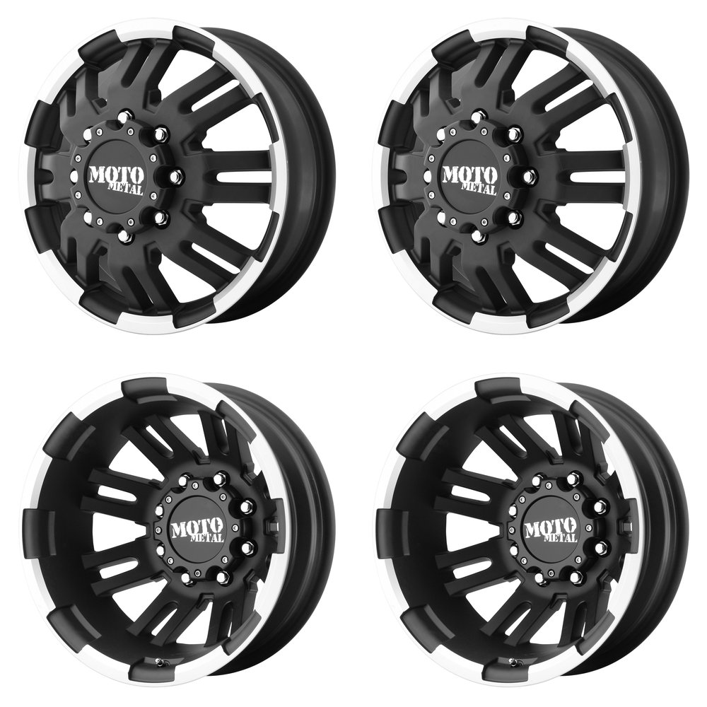 Moto Metal  MO963 Dually Matte Black Wheel with Machined 17x6//8x200mm