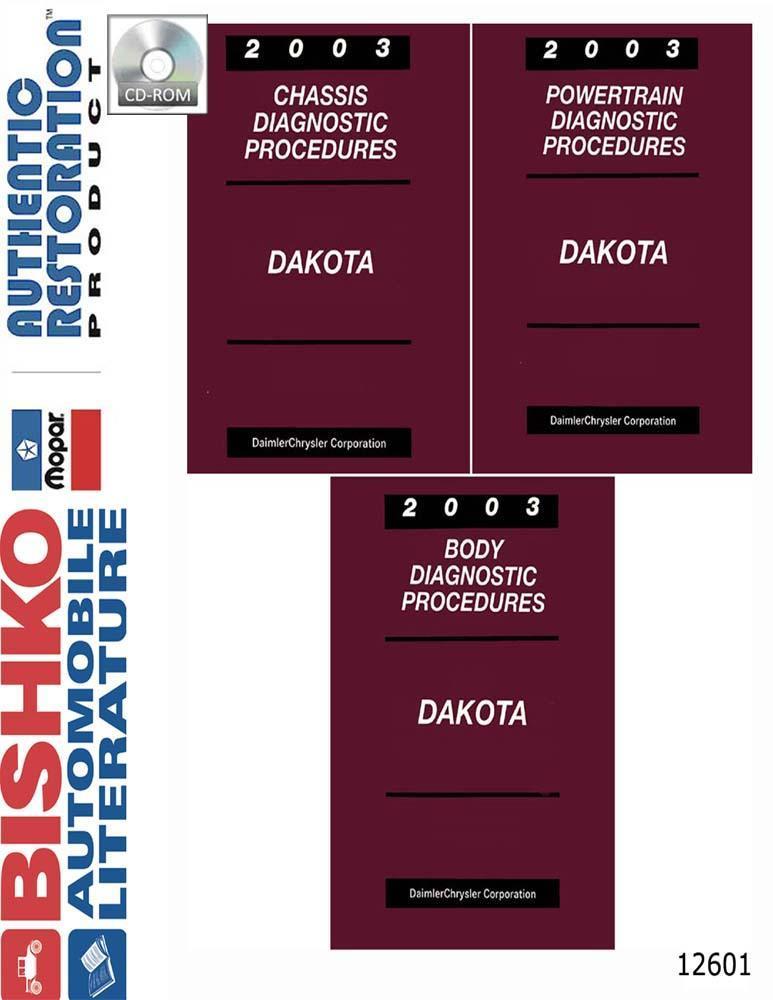Bishko Oem Digital Repair Maintenance Shop Manual Cd For Dodge Truck Dakota 2003
