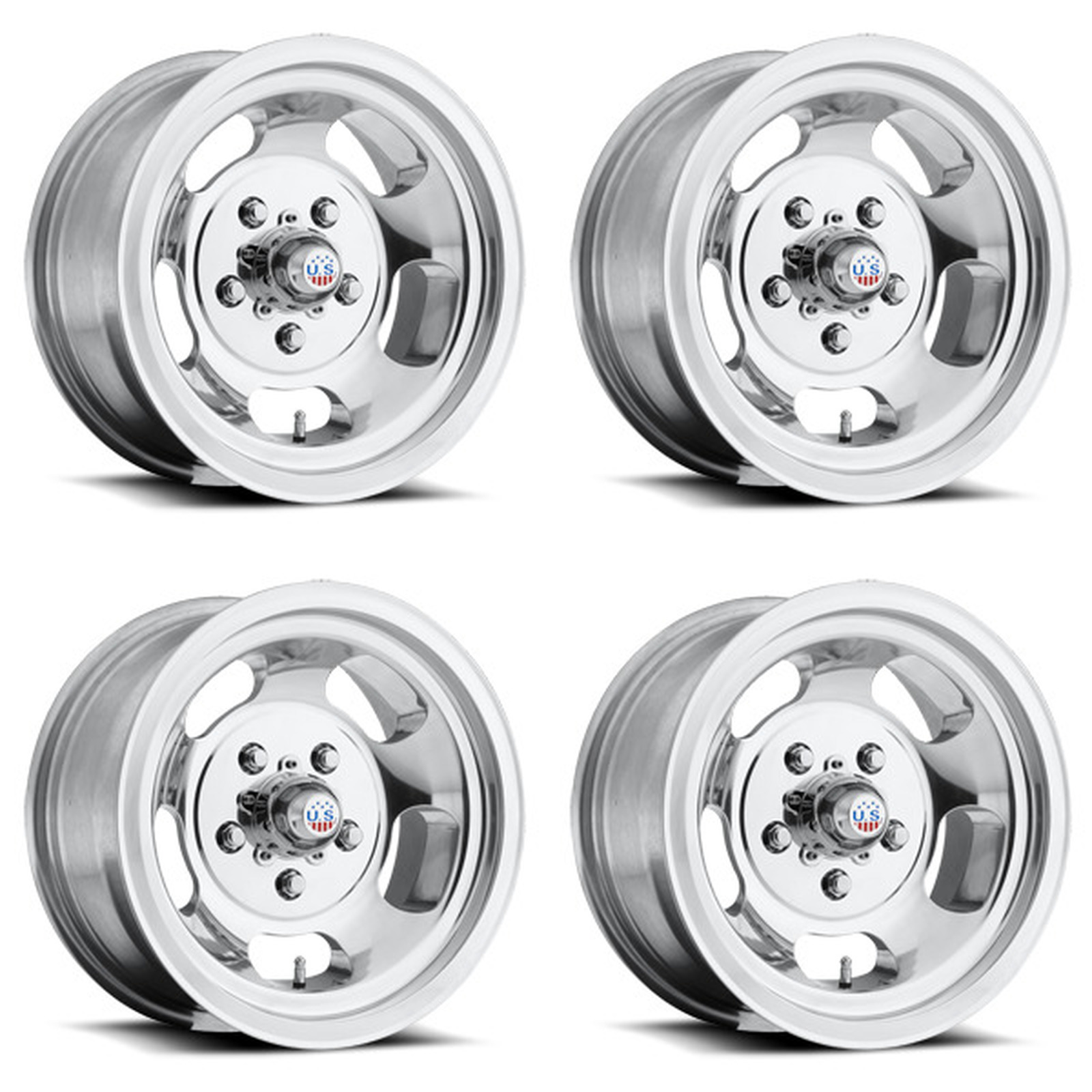 15x8 Us Mag Indy U101 6x5.5 et-12 Polished Wheel 1
