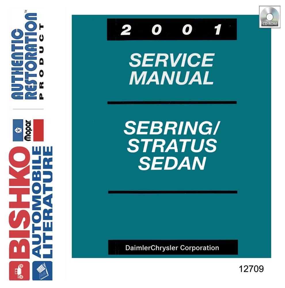 Oem Digital Shop Manual Cd Chrysler Sebring  Dodge Stratus Sedan 2001
