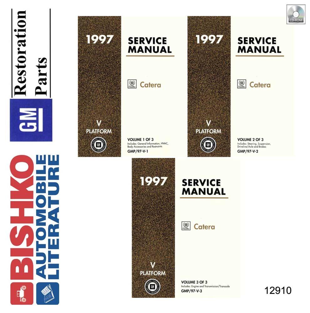 Bishko Oem Digital Repair Maintenance Shop Manual Cd For Cadillac Catera 1997