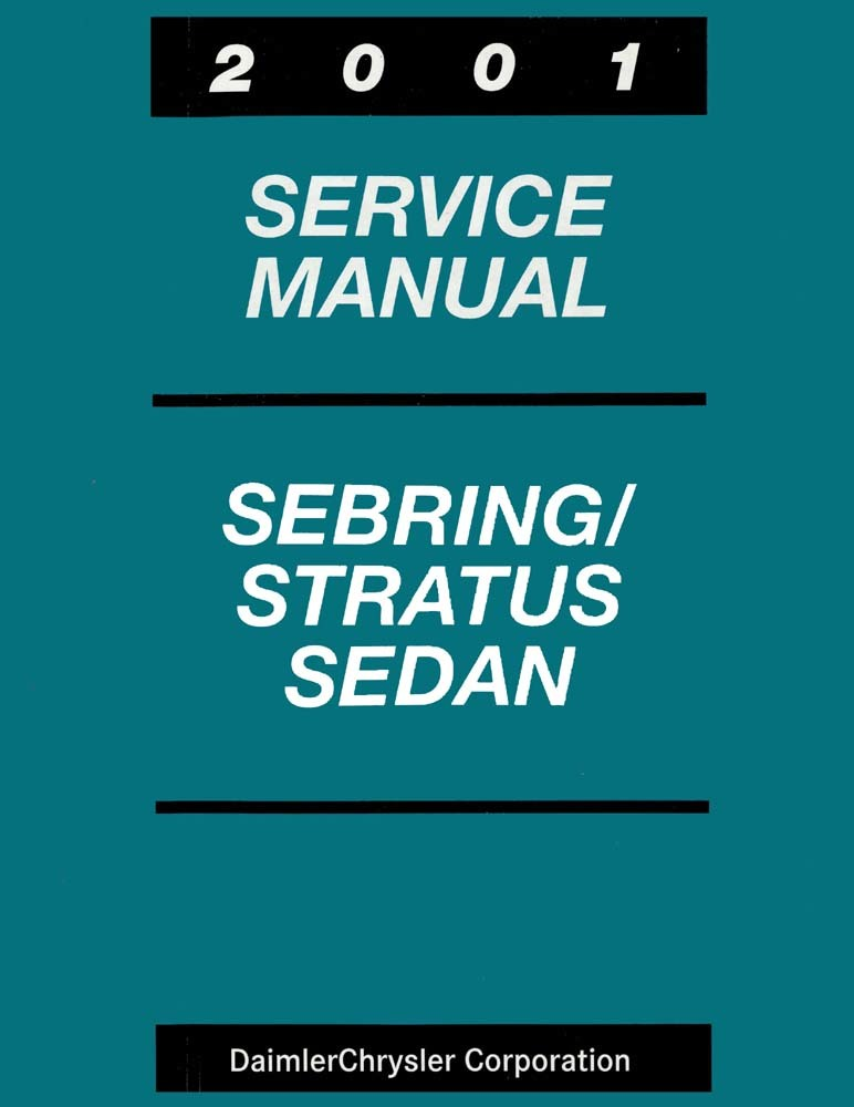 Oem Maintenance Shop Manual Bound For Chrysler Sebring  Dodge Stratus Sedan 2001