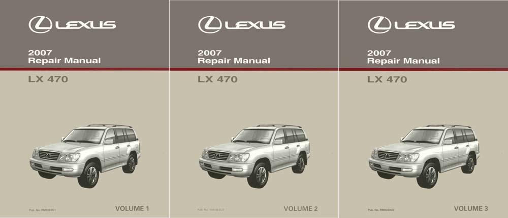 Oem Repair Maintenance Shop Manual Bound For Lexus Lx 470 Complete Set 2007