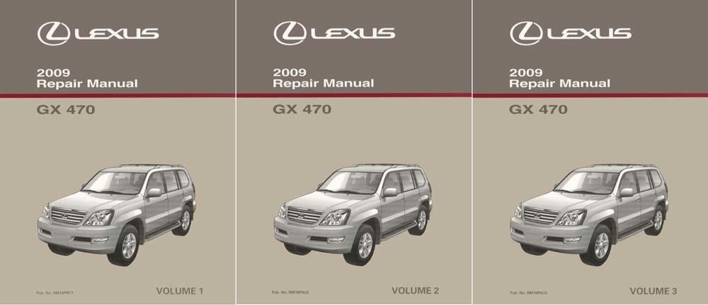Oem Repair Maintenance Shop Manual Bound For Lexus Gx 470