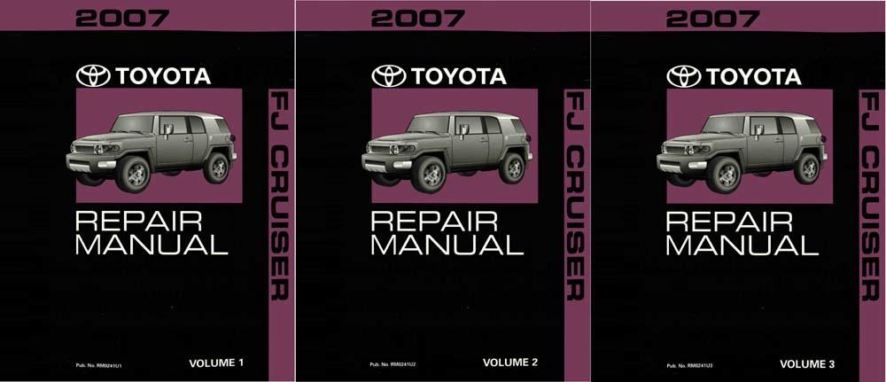 Oem Repair Maintenance Shop Manual Bound For Toyota Fj