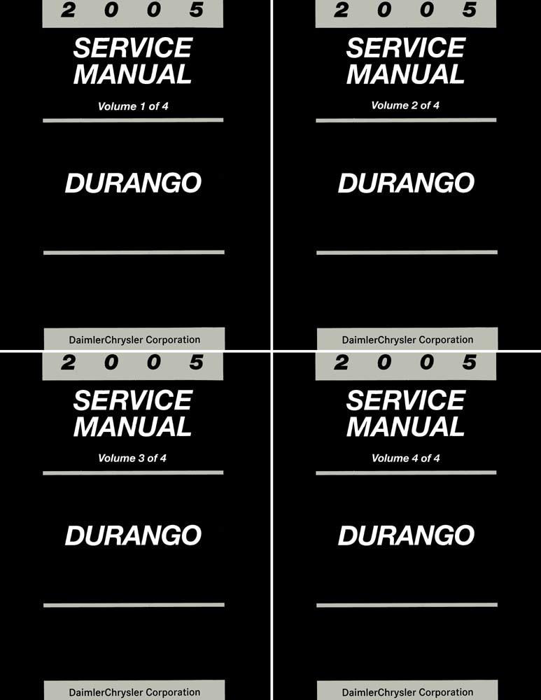 Bishko Oem Repair Maintenance Shop Manual Bound For Dodge Durango 2005