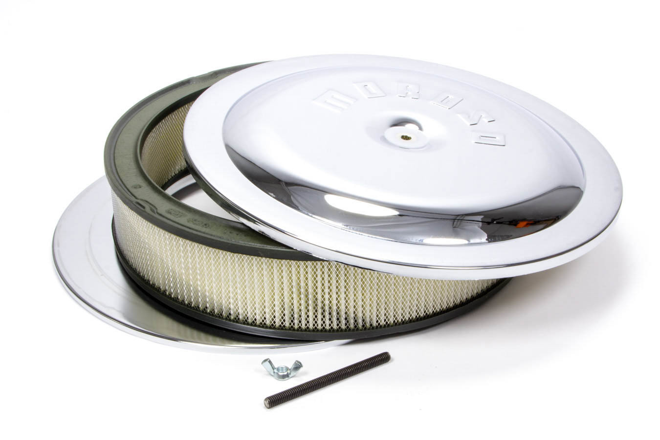 Moroso Chrome Air Cleaner for Holley 4500 14 x 3 Inch 65945