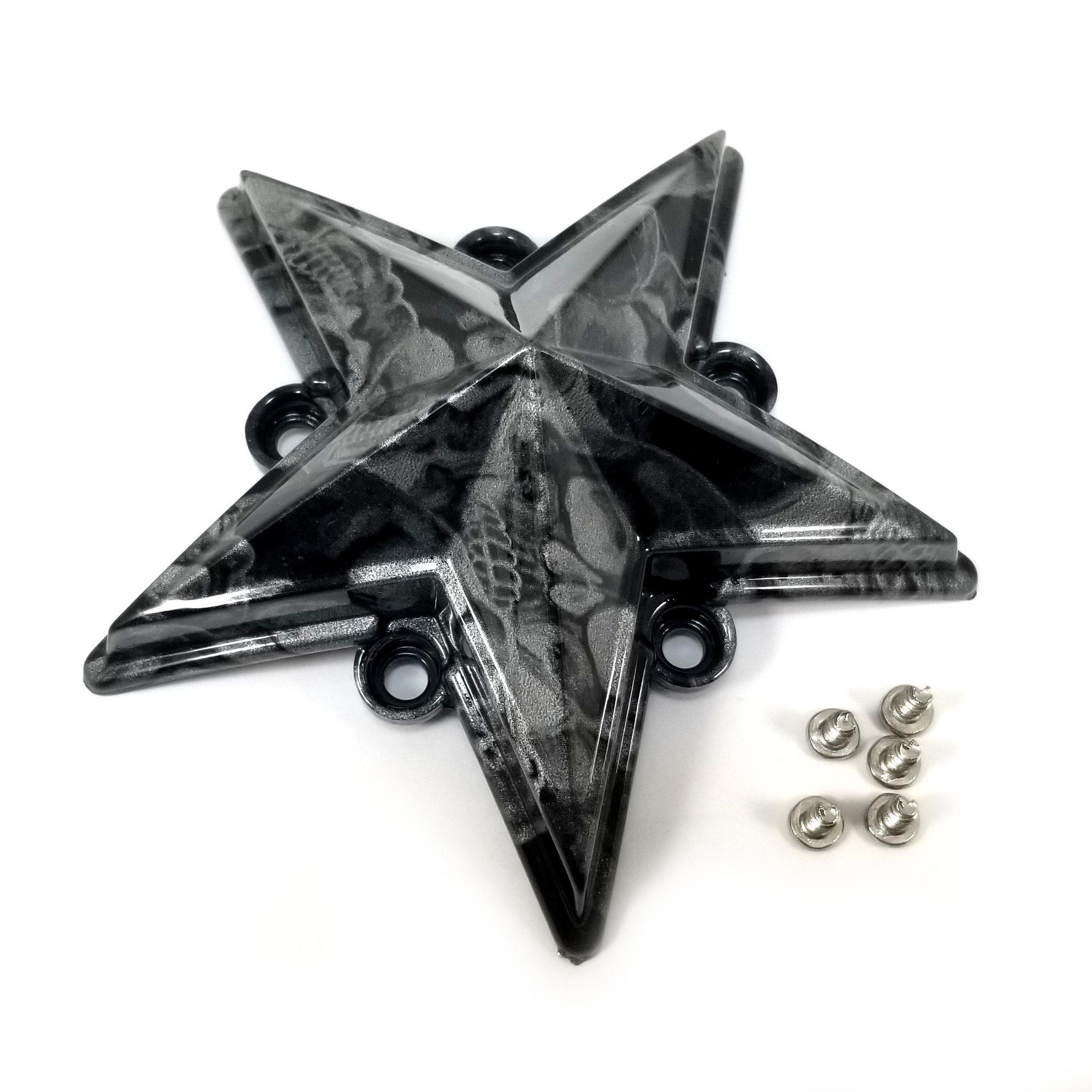 "4x KMC XD Series Skull Black 4-1//2/"" OD Star Wheel Center Caps for XD775 Rockstar"