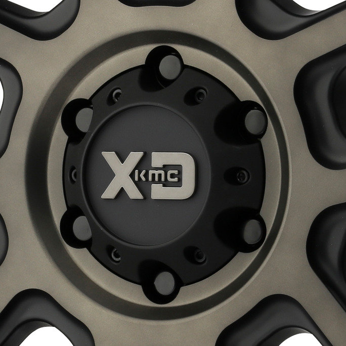KMC XD Series Black Wheel Center Cap 8L XD200 Heist XD829 Hoss II XD840 Spy II